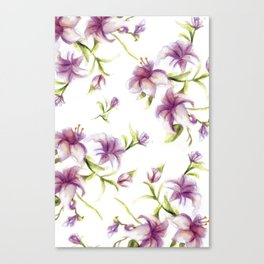 Lily Pattern Canvas Print