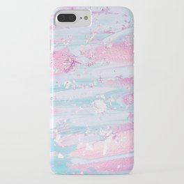 Shine Shimmer Pastel Pink and Blue Modern iPhone Case