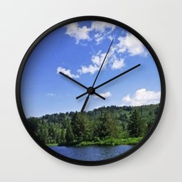 Lake Sky (walker) Wall Clock