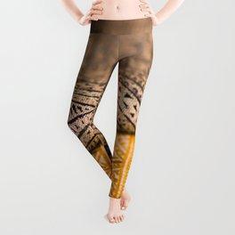 Magic Carpet Beautiful Embroidered East Asian Pattern Tapestry Leggings