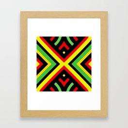 Jah Sun Always Rise Irie Reggae Mandala Framed Art Print