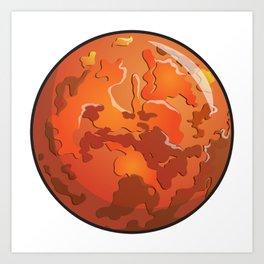Mars Icon Art Print