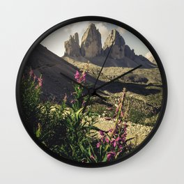 The famous Tre Cime di Lavaredo Wall Clock