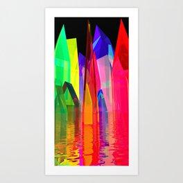 colorful village -2- Art Print