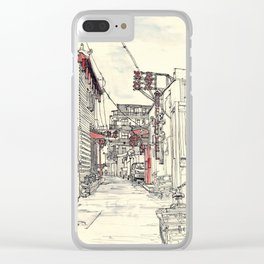 Beijing.China.Hutong Clear iPhone Case