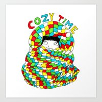 COZY TIME Art Print