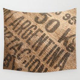 Burlap sack Wall Tapestry