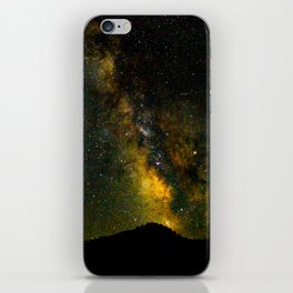 Beautiful Yellow Milky way Galaxy At Night Stars Sky Landscape Photography iPhone Skin