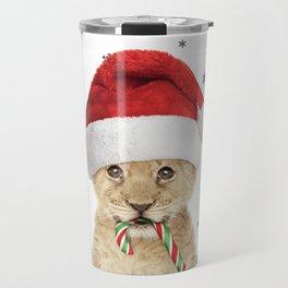 Baby Lion Cub Safari Animal Christmas Travel Mug