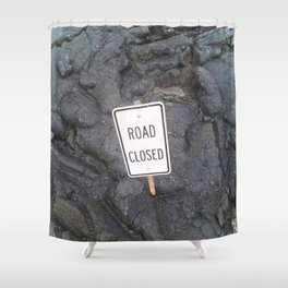 Road Sign Shower Curtain
