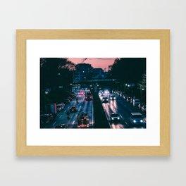 Tokyo trafic Framed Art Print
