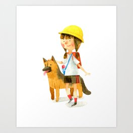 Totochan and Rocky Art Print