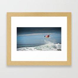 Julian Wilson at the World Tour of Surf in France, 2013. Framed Art Print