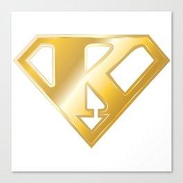 Gold Super K Logo Canvas Print