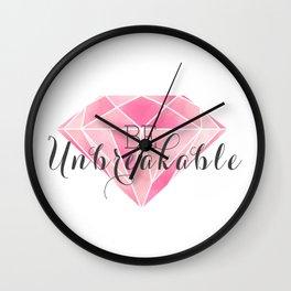 Be Unbreakable (Pink Diamond) Wall Clock