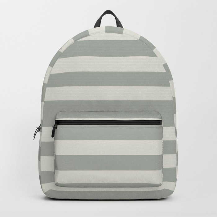 Gray Grey Stripes Backpack