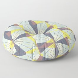 It's complicated. Bold geometric pattern in marsala, yellow and charcoal. Floor Pillow