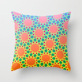 Arabesque gradient Throw Pillow