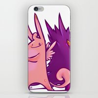 gengar iPhone & iPod Skins featuring Clefable and Gengar by Ida Dobnik