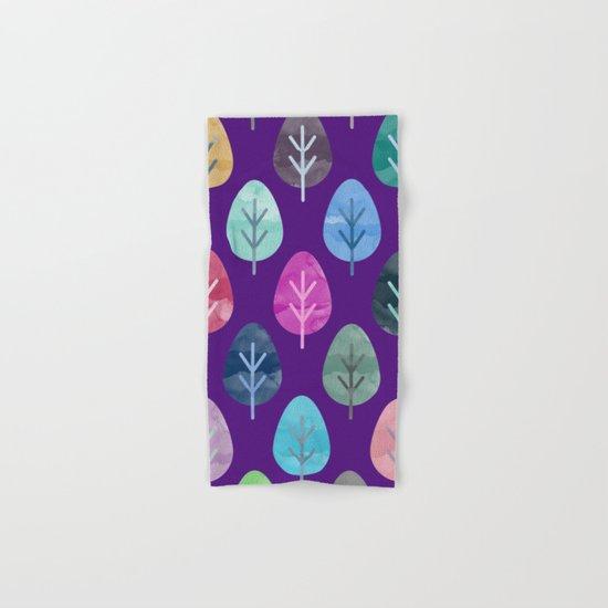 Watercolor Forest Pattern II Hand & Bath Towel