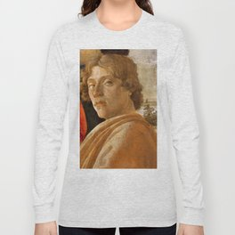 Sandro Botticelli Probable self-portrait of Botticelli, in his Adoration of the Magi (1475) Long Sleeve T-shirt
