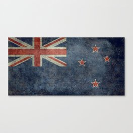 New Zealand Flag - Grungy retro style Canvas Print