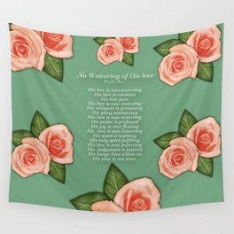 No Waivering of His love By Feon Davis Wall Tapestry