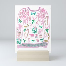 Ugly (but cute) Christmas Sweater Mini Art Print