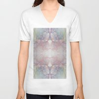 marble V-neck T-shirts featuring Marble by Iveta S.