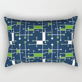 Intersecting Lines in Navy, Lime and White Rectangular Pillow