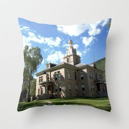San Juan County Courthouse in Silverton Throw Pillow
