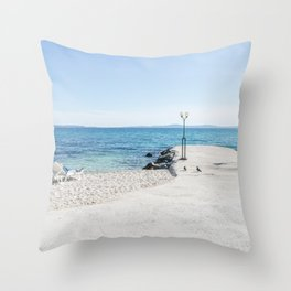 Let's chill Throw Pillow