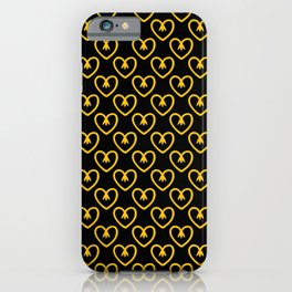 Hearts of flowers in aspen gold. A true spring 2019 trend. iPhone Case