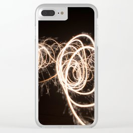 Light Trails Clear iPhone Case