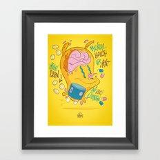 Mental Health for Rent Framed Art Print
