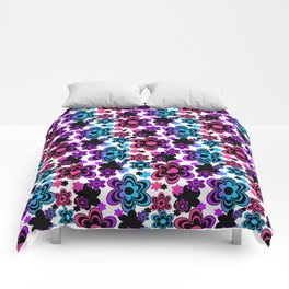 Rainbow Floral Abstract Comforters