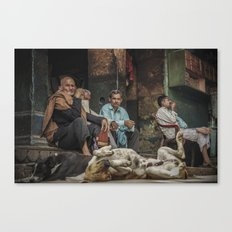 The Men Mourn Canvas Print