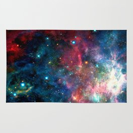 Cosmic Connection, Galaxy, Space, Nebula, Stars, Planet, Universe, Rug