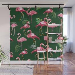 Flamingos Love Pattern 5 Wall Mural