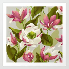 magnolia bloom - daytime version Art Print