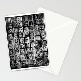 FACE IT - lullaby child - bw Stationery Cards