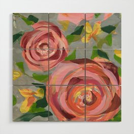 Platinum Rose Wood Wall Art