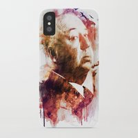 hitchcock iPhone & iPod Cases featuring ALFRED HITCHCOCK by Elizabeth Cakovan