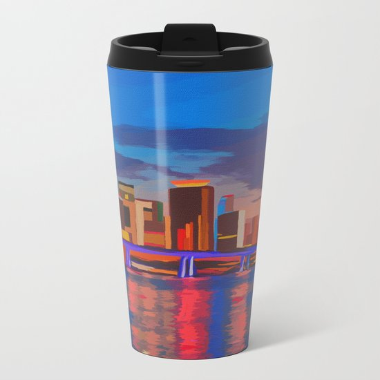 Miami Evening Metal Travel Mug