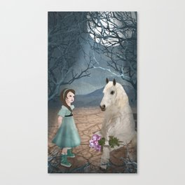 Talking with horseguy Canvas Print