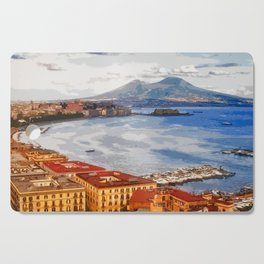 Italy. The Bay of Napoli Cutting Board