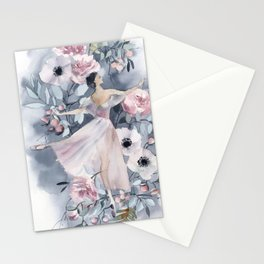 Ballerina and flowers n.4 Stationery Cards