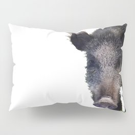 Crazy As A Peach Orchard Boar Vector Pillow Sham