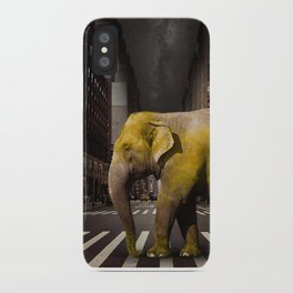 Elephant in New York iPhone Case