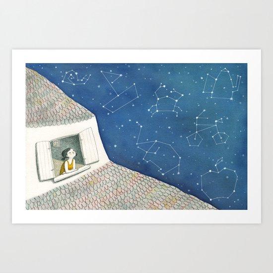 Dreamy night Art Print